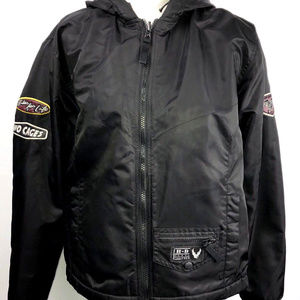 Harley Davidson Womens LARGE Sweater Jacket Hooded